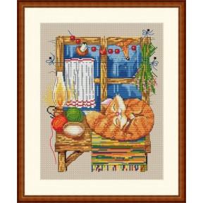 Набор для вышивания крестом Мережка Каждой молодушке- дом,сундук и кошечку К-08