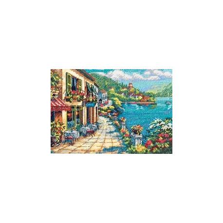 Набор для вышивки крестом Dimensions 65093 Overlook Cafe фото