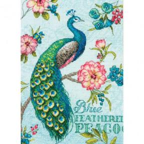 Набор для вышивания крестом Dimensions 70-65146 Blue Peacock