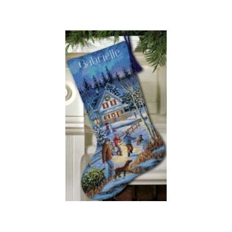 Набор для вышивания Dimensions 08805 Christmas Eve Fun Stocking