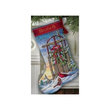 Набор для вышивания Dimensions 08819 Christmas Sled Stocking