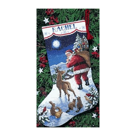 Набор для вышивания Dimensions 08683 Santa's Arrival Stocking