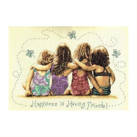 Набор для вышивания Dimensions 35241 Happiness is Having Friend