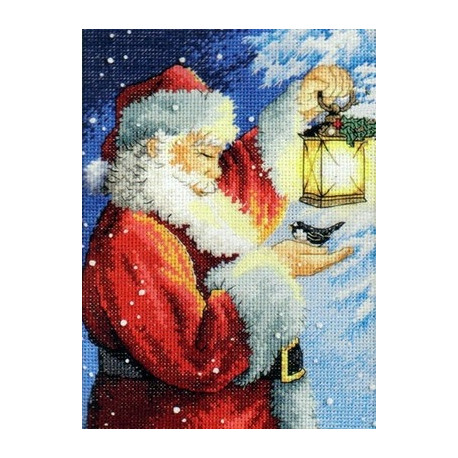 Набор для вышивки Dimensions 70-08831 Santa's Feathered Friend