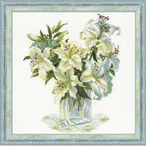 Набор для вышивки крестом Риолис 1169 Белые лилии