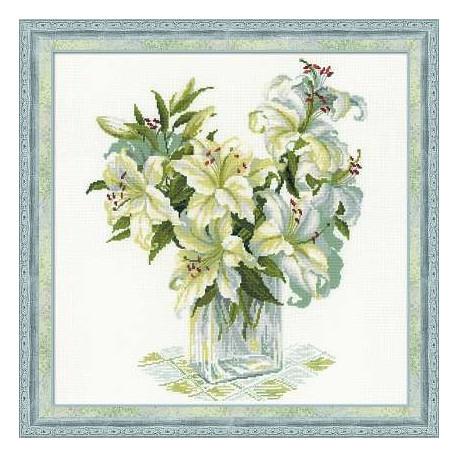 Набор для вышивки крестом Риолис 1169 Белые лилии фото