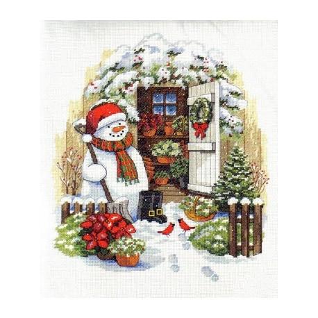 Набор для вышивания Dimensions 08817 Garden Shed Snowman фото
