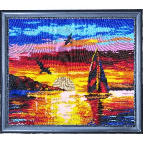 Набор для вышивания бисером Butterfly 308 Морской закат фото