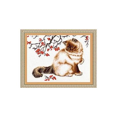 Набор для вышивки крестом Золотое Руно К-006 Задумчивый кот фото