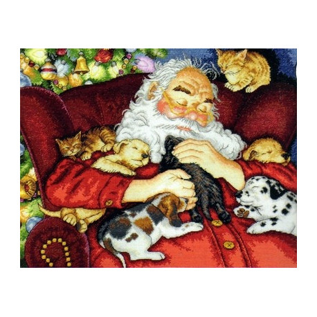 Набор для вышивания Dimensions 70-08836 Santa's Nap фото