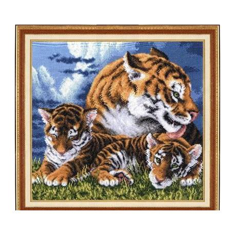 Набор для вышивки крестом Золотое Руно ДЖ-014 Тигрята фото