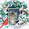 Набор для вышивки крестом Dimensions 73504 Winter Kitten фото