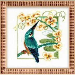 Набор для вышивки крестом Риолис 1104 Зимородок