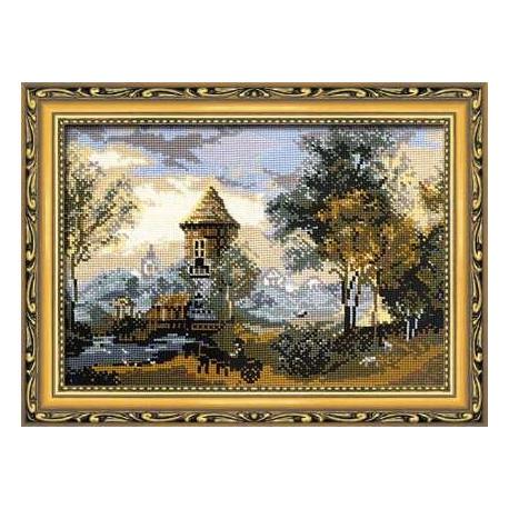 Набор для вышивки крестом Риолис 340 Пейзаж с замком фото