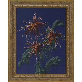 Набор для вышивания КиТ 71209 Хризантемы в саду
