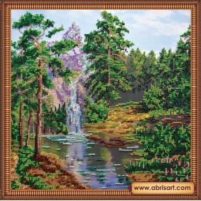 Набор для вышивания бисером иконы Абрис Арт АВ-213 Горный водопад
