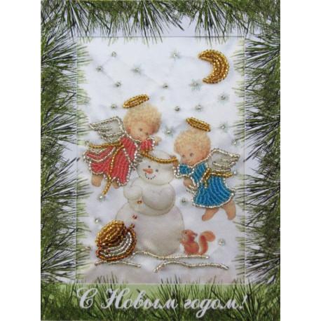 Набор для вышивания открытки бисером Butterfly 707 Зимняя
