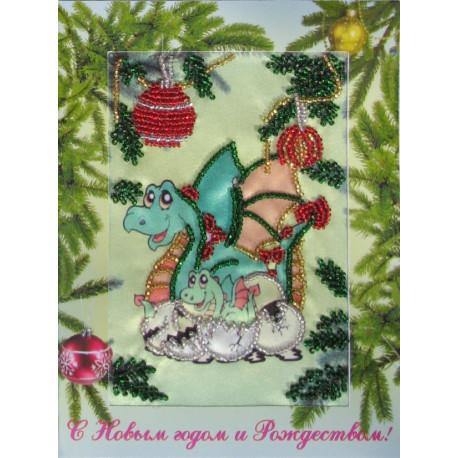 Набор для вышивания открытки бисером Butterfly 705 Дракончик