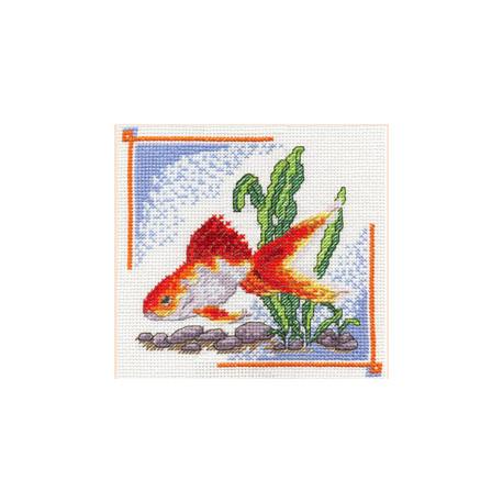 Набор для вышивки крестом Panna Д-0190 Золотая рыбка фото