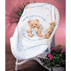 Набор для вышивания одеяла Dimensions 13065 Cuddly Bear Quilt
