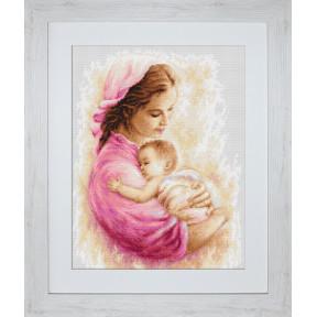 Набор для вышивки крестом Luca-S B536 Мать и дитя