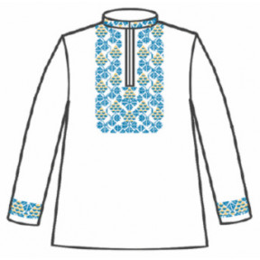 Сорочка под вышивку для мальчика с длинным рукавом 153-12-09-40 Размер 40