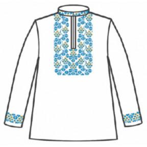 Сорочка под вышивку для мальчика с длинным рукавом 153-12-09-32 Размер 32