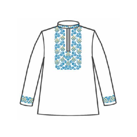 Сорочка под вышивку для мальчика с длинным рукавом 153-12-09-32