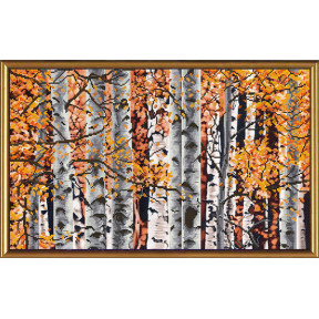 Набор для вышивания бисером и крестом Нова Слобода ННД-1022 Осенние березки