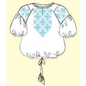 Сорочка женская под вышивку белая с коротким рукавом ТПК-162-03-02-09-52 Размер 52
