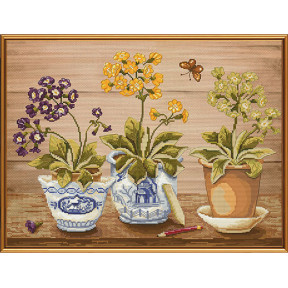 Набор для вышивания бисером и крестом Нова Слобода ННД-1042 Весенние первоцветы