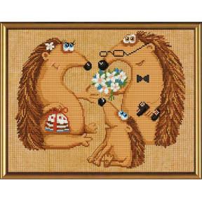 Набор для вышивания бисером и крестом Нова Слобода ННД-3026 Семья ежей