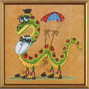 Набор для вышивания бисером и крестом Нова Слобода ННД-4023 Змейка