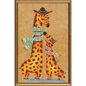 Набор для вышивания бисером и крестом Нова Слобода ННД-4024 Жирафики