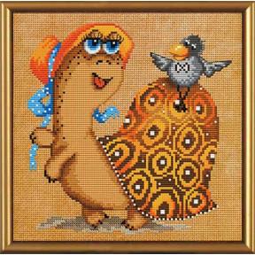 Набор для вышивания бисером и крестом Нова Слобода ННД-4025 Черепаха с вороной
