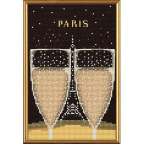 Набор для вышивания бисером и крестом Нова Слобода ННД-5537 Париж в иллюстрациях.Эйфелева башня