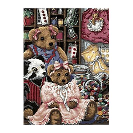 Набор для вышивания крестом Dimensions 20048 Bear Button