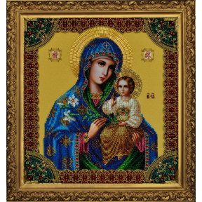 """Набор для вышивания Картины Бисером Р-203 Икона Божией Матери """"Неувядаемый цвет"""""""
