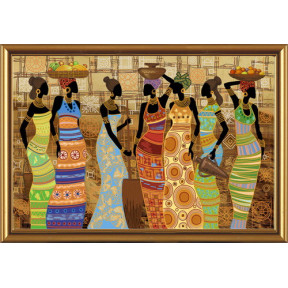 Набор для вышивания бисером Нова Слобода ДК-1038 Африканские красавицы