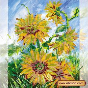 Схема для вышивания бисером Абрис Арт АС-089 Солнечные цветы