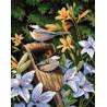 Набор для вышивания Dimensions 20068 Chickadees and Lilies фото