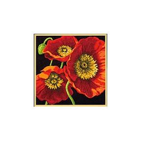 Набор для вышивания Dimensions 71-20073 Red Poppy Trio фото