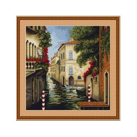Набор для вышивки крестом Luca-S Венеция в Цветах B240 фото