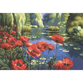 Набор для вышивания крестом Dimensions 20066 Lakeside Poppies