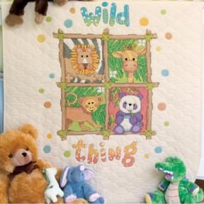Набор для вышивания одеяла Dimensions 73249 Wild Thing Quilt