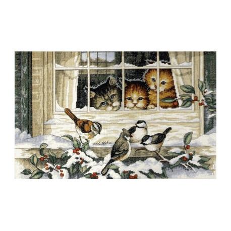 Набор для вышивания Dimensions 03839 Three Bird Watchers фото
