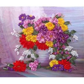 """НЛ-3021 Набор для вышивания лентами Марічка """"Осенние цветы"""""""