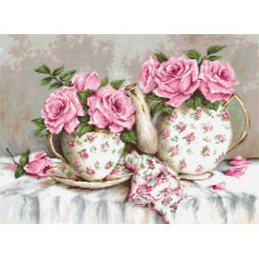 Набор для вышивки гобеленом Luca-S G568 Утренний чай и розы