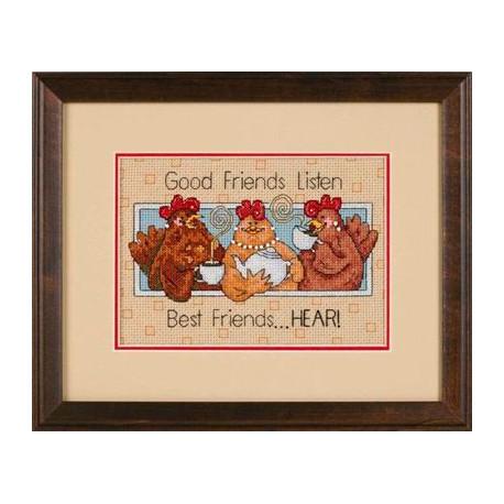 Набор для вышивания Dimensions 65079 Good Friends Listen фото