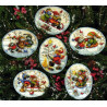 Набор для вышивания Dimensions 08828 Playful Snowmen Ornaments